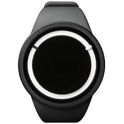 ZIIIRO Eclipse Black Unisex selbstleuchtende Uhr / Silikonband
