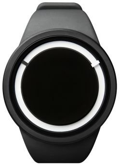 ZIIRO Eclipse Noir Unisexe auto-illuminée montre / Bande de silicone