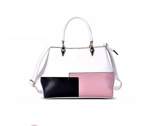 JIANQIN Damen-große Mode-Designer-Promi-Einkaufstasche-Frauen-Qualität Heißer Verkauf Trendy Handtaschen-Umhängetasche,White (Designer-handtasche Verkauf)