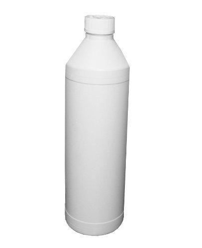 125 Stück Flaschen PE Rundflasche 1000 ml mit kindersicherem Schraubdeckel Rundflasche Leerflasche Weißflasche Plastikflasche Kunststoffflasche Flasche Flaschen Flaschenpaket Paket Teile 1 Liter Schraubverschluss Verschluss weiß (Teil Verschluss)