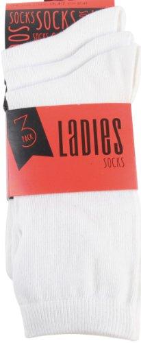 RJM Ladies Plain Ankle Socks Size 4-7