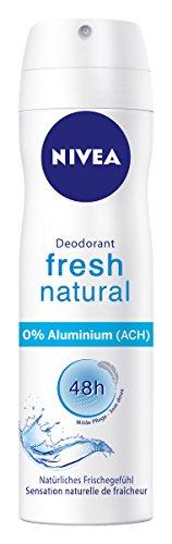Nivea Deo Fresh Natural Spray, ohne Aluminium, 6er Pack (6 x 150 ml)