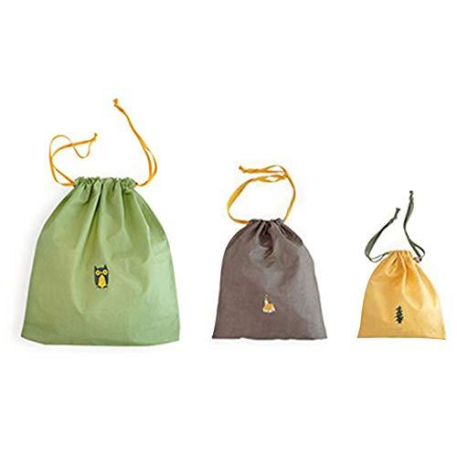hrungsbeutel wasserdichte Nylon Kordelzug Männer und Frauen Falten Kleidung Verpackung Schuhe Gepäck Lagerung Taschen Beutel,3 pcs ()
