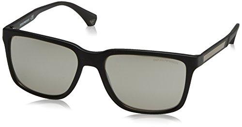 Emporio Armani Herren 0EA4047 50636G 56 Sonnenbrille, Schwarz (Black/Grey Silver),