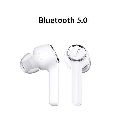Auriculares Bluetooth,  Funcl AI Auriculares Inalámbricos Bluetooth Estéreo In- Ear Bluetooth 5.0 True Wireless Auriculares con Control Táctil,  Auricular Bluetooth con Manos Libres y micrófono (Blanco)