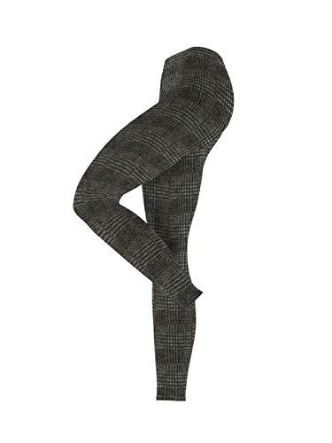 ESPRIT Damen Shiny Check Strumpfhose, Mehrfarbig (Black 3000), 36 (Herstellergröße: 36-38) (Black Check Bekleidung)