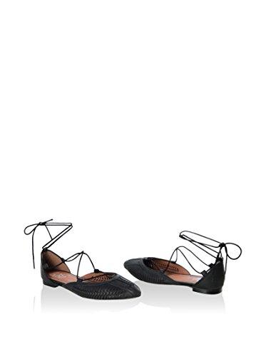 Gusto  Ballet Flat, sandales femme Noir