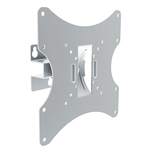 PureMounts PM-LM-TS32 Wandhalterung für Fernseher bis 107cm (42 Zoll), ultraslim neigbar, schwenkbar, VESA 200, silber