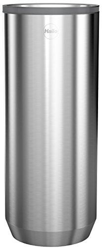 Hailo KitchenLine Design Plus Vorratsdose 2,2l, gebürstetes Edelstahl, luftdicht schließender Deckel mit Sichtfenster, lebensmittelecht, 0833-200