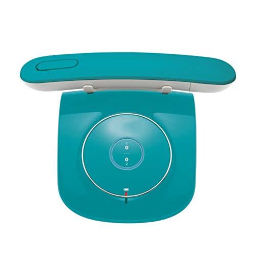 CQOZ Festnetztelefon Digitale schnurlose Telefon-Submaschine 212MM × 52MM × 26MM drahtloses Festnetztelefon für Festnetztelefon eins für eins (Color : Blue, Size : A)