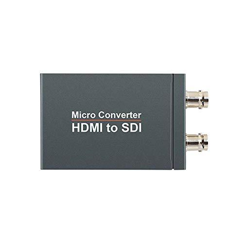 HDMI Zu SDI Adapter Signalkonverter,HDMI Zu SDI Konverter 3G 1080P Konverter Alloy HD Video Audio Adapter Unterstützt 3G SDI Signal Adapter Unterstützt 1080P Für Kamera Heimkino (HDMI Zu SDI)