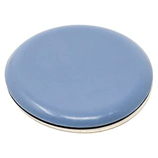 PTFE glides | Ø 1,97'' (Ø 50 mm) | grey-blue | round | Premium quality self-adhesive furniture sliders by Adsamm®