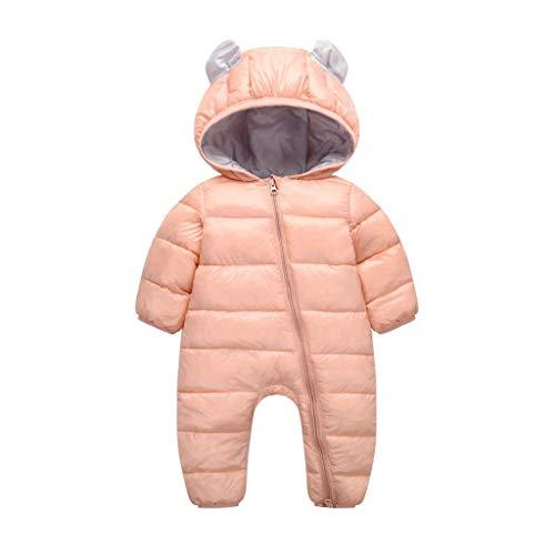 VICGREY  Piumino Bambino Invernale Tute da Neve Neonato Hooded Pagliaccetti, Pagliaccetto del Bambino Inverno Giubbotto Vestiti Caldi Spessi Maniche Lunghe Giubbotto