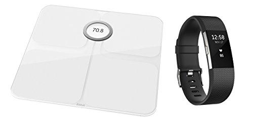 Fitbit Aria 2, Bilancia Intelligente Unisex, Nero, Taglia Unica