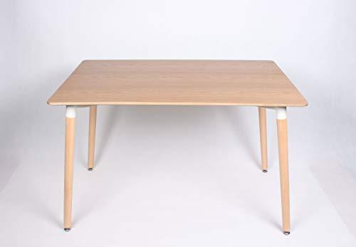 J&A France Esstisch, rechteckig, skandinavisches Holz, 120 cm