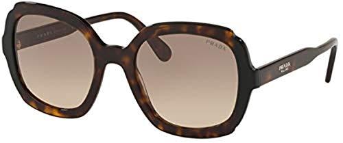 Prada Damen 0PR 16US Sonnenbrille, Blau (Havana/Black), 54.0