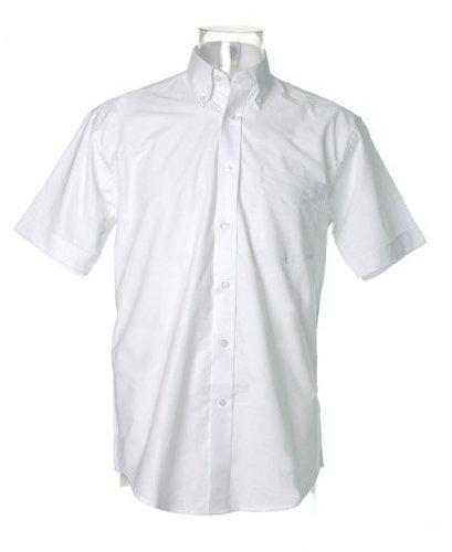 Kustom Kit Workplace Oxford-Hemd mit kurzen Ärmeln White