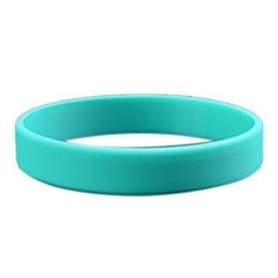 TOOGOO Mode Silikon Gummi Elastizitaet Armband Handgelenk Band Manschette Armband Armreif hellgruen