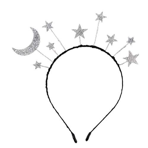 Baby Mond Kostüm - Holibanna Pailletten Haareif Glitzer Mond Haarband Stern Stirnband für Halloween Party Hochzeit Geburtstag Kostüm Cosplay (Silber)