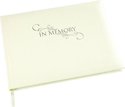 Funérailles Livre d'or-funéraire en mémoire d'un livre de condoléances avec couverture en lin Crème