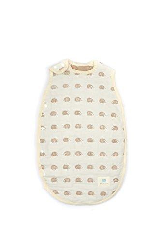 lucky-gigoteuse-bebe-avec-motif-herisson-beige-en-mille-feuille-de-coton-jaune-42-x-68-cm