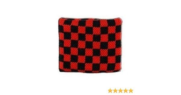 Digni/® Poignet /éponge avec drapeau Damier Rouge-Noir