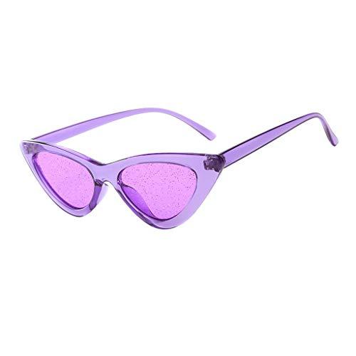 fazry Damen Mode Sonnenschirm Sonnenbrillen Sexy Vintage Brille(Lila)