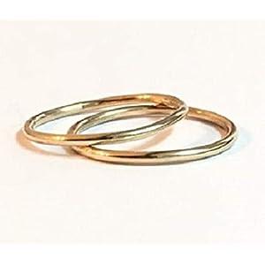 FloweRainboW Dünne Eheringe 750 Gold Im Klassischen Design – Hochzeitsringe/Trauringe/Verlobungsringe – Damen/Männer