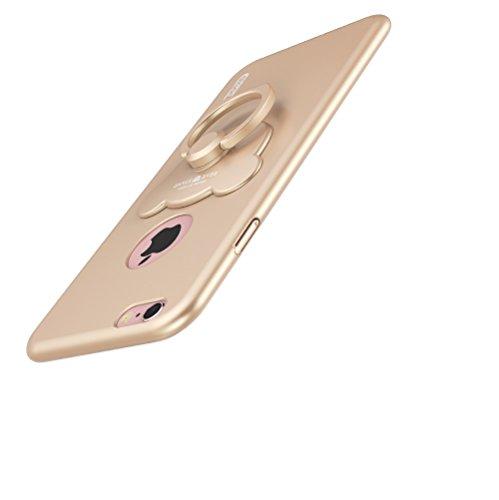 iphone 6 Plus,iphone 6S Plus Housses et étuis,PC Matière avec [Ultra Mince] [Ultra Léger] Anti-Rayures Anti-dérapante Case Coque Housse Bumper Cover pour iphone 6 Plus /6S Plus,+ 360° drehbarer Ringha D
