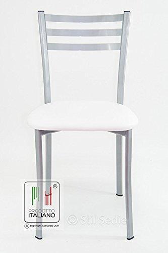 Stil sedie sedia cucina modello flora con seduta in for Sedie amazon cucina