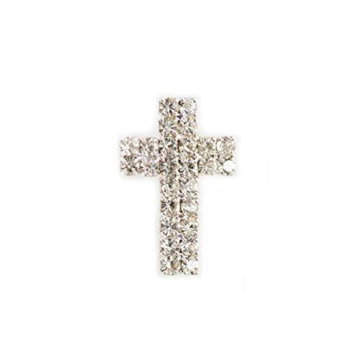 Praisent Ansteckpin Kreuz besetzt mit Strass-Steinen
