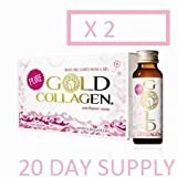 2 X Pure Gold Collagen 10 Day Programme Food Supplement 20 DAY SUPPLY IN TOTAL (20 X 50ML IN TOTAL)