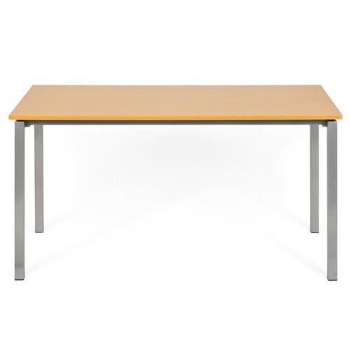 Konferenztisch Schreibtisch YORK 140cm grau/buche hjh OFFICE