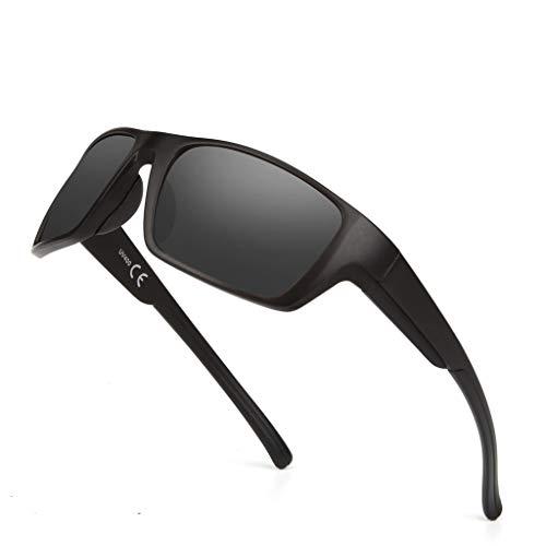 Polarisierte Sport-Sonnenbrille für Männer Frauen, Sonnenbrille Fahren, Rahmen Baseball Radfahren Laufen Angeln Golf Fahren Brille UV40-Schutz Fahrräder Brillen/Radfahren, Klettern, Sport (C)