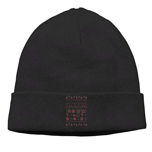 DANCENLI Momens Charleston Casual Style Travel Black Beanies Knit Hat