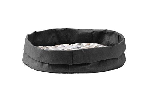 Gavemo Tommy: Couchage pour Chat/Chien en Fibre de Cellulose Couleur Noir, avec Coussin Amovible en Coton hypoallergénique, fabriqué en Italie par Limac Design®.