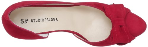 Studio Paloma 18510 356 Taco 504508 Forrado, Damen Sandalen Rot (Ante rojo)