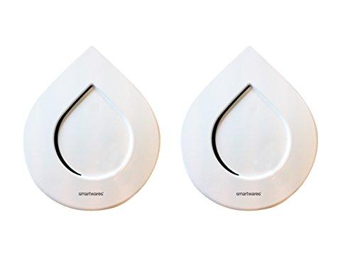 SMARTWARES 2er-Set Funk-Wassermelder Wasseralarm HomeWizard kompatibel, inkl. Batterien; SH8-WD-TR