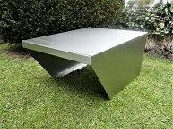 Garage aus Edelstahl für Mähroboter Akkumäher Breite 58 cm