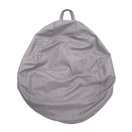 Homyl Sitzsackhülle ohne Füllung, Riesensitzsack Sitzsack Bezug Hülle aus Polyester - Grau