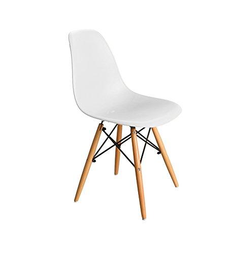 ch-AIR Lounge Stuhl Computer Stuhl Stuhl Modern und Einfach Sessel aus Massivem Holz Schreibtischstuhl Esszimmerstuhl 82cm Hoch (Farbe : Weiß)