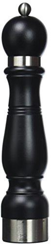 Peugeot 20392 Chateauneuf Pfeffermühle Holz, 6,4 x 6,4 x 30 cm, matt schwarz
