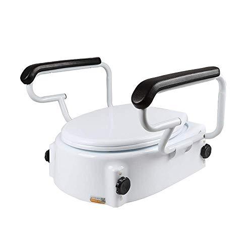 Toilettensitzerhöhung mit Griffen - mit aufgefüllten Armen für Behinderte - tragbarer Sicherheitsstuhl für das Badezimmer