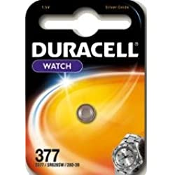 5 x Duracell 377 1.5v Silver Oxide Watch Battery Batteries SR626SW AG4 626 D377