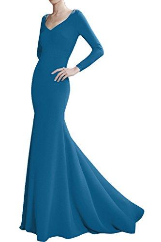 Victory Bridal Royal Blau 2016 Neu Edel Damen Abendkleider Partykleider Abiballkleider Meerjungfrau Festlich Blau