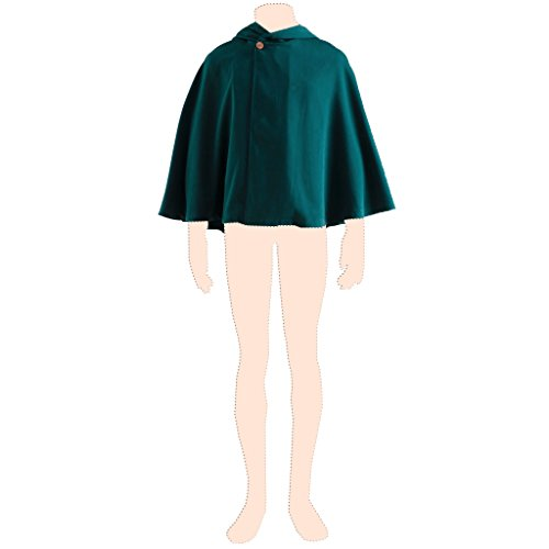 Attack on Titan Kostuem cosplay Survey Corps cloak 2nd ver-Deep dark green Medium