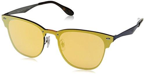 Ray-Ban RAYBAN Unisex-Erwachsene Sonnenbrille 3576n, Brushed Blue/Darkorangemirrorgold, 47
