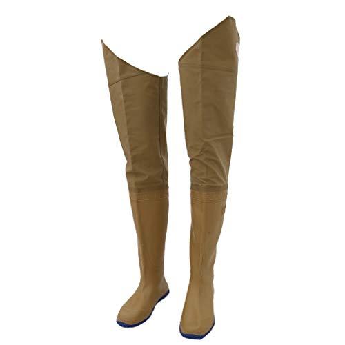 F Fityle 1 Paar Stiefel Wathose Anglerhose Anglehose Teichhose Watthose Wasserdicht Atmungsaktiv - Gelb 41-44 42
