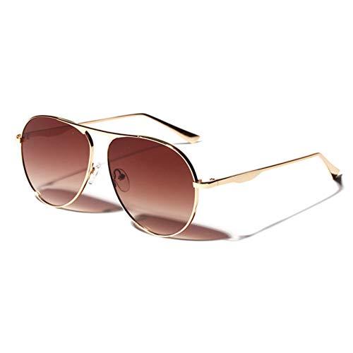 ZHENCHENYZ Mode Metall Red Frog Spiegel Sonnenbrille Frauen Vintage Pilot Retro Big Face Big Frame Brille UV400