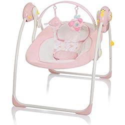 LITTLE WORLD Balançoire pour Bébés Dreamday Rose Transats Balancelle pour Bébé